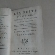Libros: LES NUITS D'JOUNG 3EDICION17701TOMO CON LA APROBACIÓN DEL REY. Lote 109411907