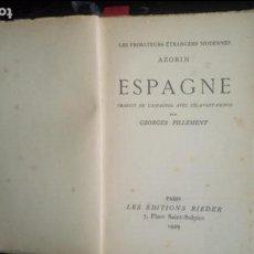 Libros: AZORIN. GENERACIÓN DEL 98. ESPAGNE. Lote 129374731