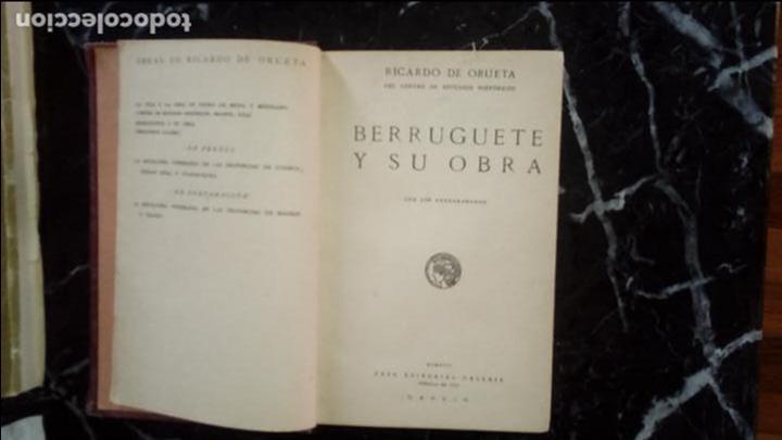 BERRUGUETE. SU OBRA. BERRUGUETE Y CASTILLA. ESCULTURA CASTELLANA. ESCULTURA DEL XVI EN ESPAÑA. (Libros Nuevos - Literatura - Ensayo)