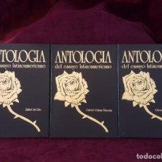 Libros: ANTOLOGIAS DEL ENSAYO LATINOAMERICANO Y POEMA AMERICANO. Lote 132788882