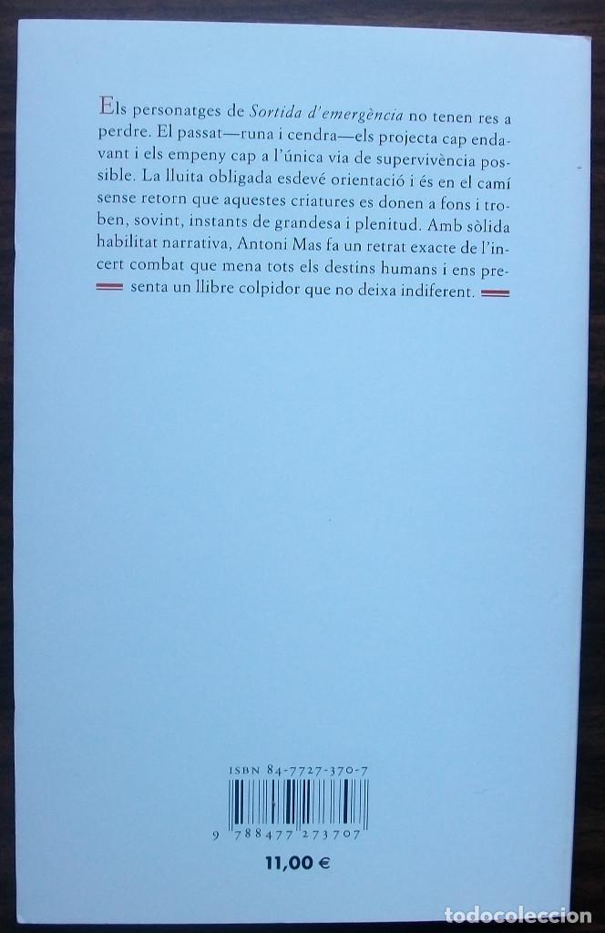 Libros: ANTONI MAS. SORTIDA DEMERGENCIA. - Foto 2 - 148250890