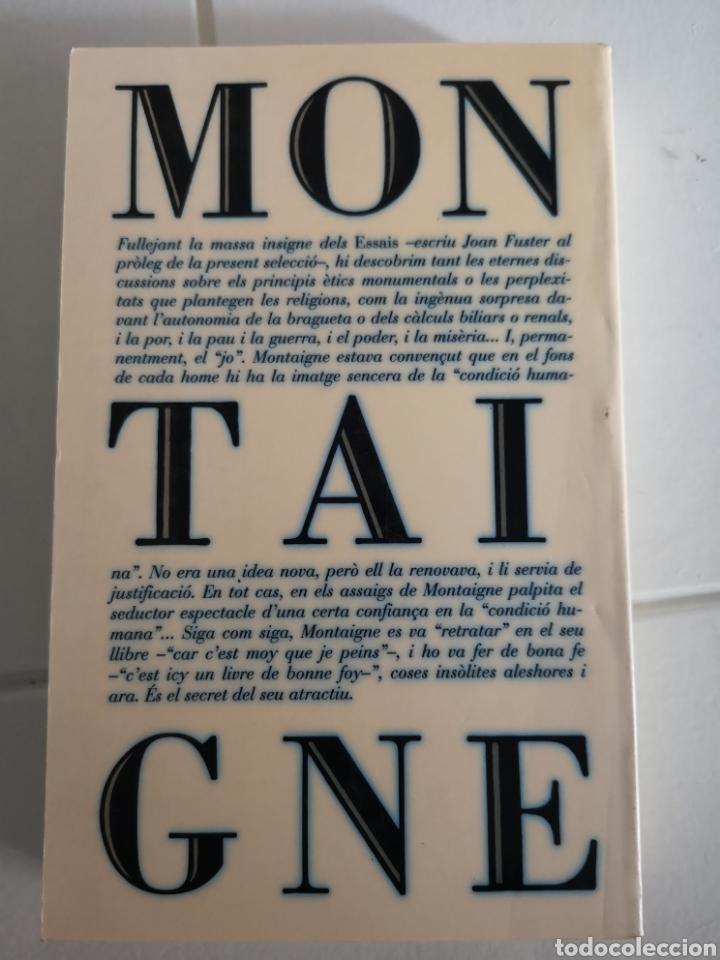 Libros: M. de MONTAIGNE. Asssigs breus. Trad. Vicent ALONSO. Pròleg Joan FUSTER. 1a ed. València 1992. - Foto 2 - 217616737