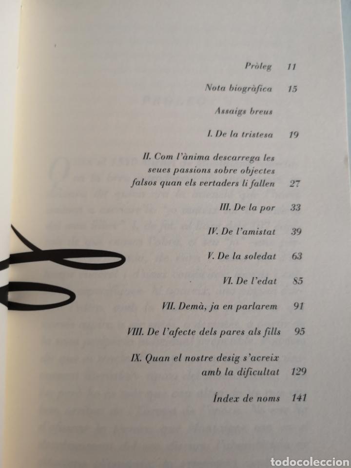 Libros: M. de MONTAIGNE. Asssigs breus. Trad. Vicent ALONSO. Pròleg Joan FUSTER. 1a ed. València 1992. - Foto 6 - 217616737