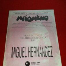Libros: HOMENAJE A MIGUEL HERNÁNDEZ MAOMENO REVISTA DE ENSAYO CREACIÓN HUMOR Y ENTRETENIMIENTO 198. Lote 152799201