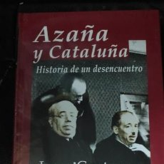 Libros: AZAÑA Y CATALUÑA ( ENSAYO HISTORICO EDHASA) JOSEP CONTRERAS . Lote 164697890