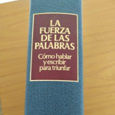 Libros: LA FUERZA DE LAS PALABRAS. Lote 166569954