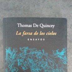 Libros: LA FARSA DE LOS CIELOS (THOMAS DE QUINCEY) EDITORIAL PARADISO (ARGENTINA). Lote 173438899