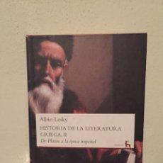 Libros: LIBRO HISTORIA DE LA LITERATURA GRIEGA II - ALBIN LESKY - EDITORIAL CÁTEDRA - TAPA DURA. Lote 173475720
