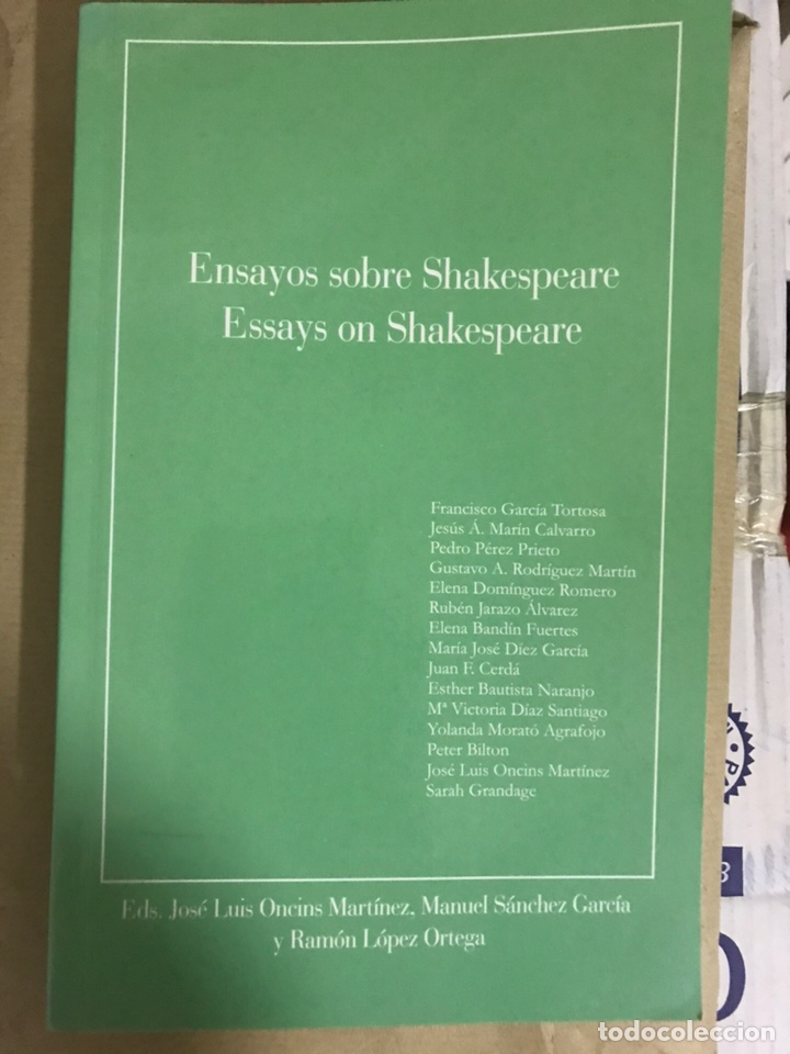 ENSAYOS SOBRE SHAKESPEARE, ESSAYS ON SHAKESPEARE (Libros Nuevos - Literatura - Ensayo)