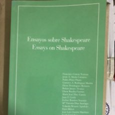 Libros: ENSAYOS SOBRE SHAKESPEARE, ESSAYS ON SHAKESPEARE. Lote 178224427