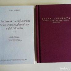 Libros: OPERA CHIAMATA CONFUSIONE DELLA SETTA MACHUMETANA Y SU TRADUCCIÓN CONFUSIÓN DE LA SECTA MAHOMÉTICA. Lote 186309030