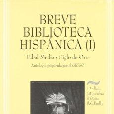 Libros: BREVE BIBLIOTECA HISPÁNICA I (VV.AA.) EUNSA 1997. Lote 191166082