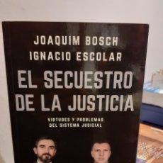 Libros: EL SECRETO BOSCH DE LA JUSTICIA. Lote 191200775