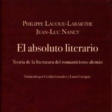 Libros: EL ABSOLUTO LITERARIO. Lote 194986967