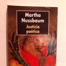 Livres: MARTA NUSSBAUM-JUSTICIA POÉTICA. Lote 203066991