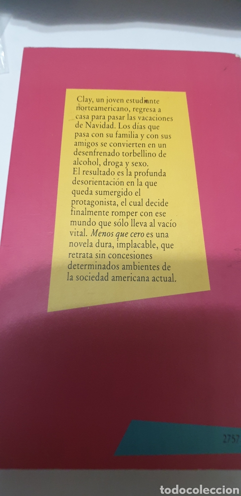 Libros: Menos que cero . Breast Easton Ellis - Foto 2 - 204490420