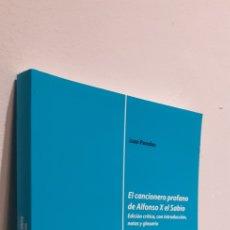 Livros: EL CANCIONERO PROFANO DE ALFONSO X EL SABIO. Lote 208479575