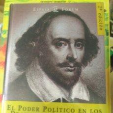 Libros: FEDERICO TRILLO. FIGUEROA EL PODER POLITICO EN LOS DRAMAS DE SHAKESPEARE. Lote 208861783