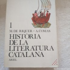 Libros: HISTORIA DE LA LITERATURA CATALANA. 3 TOMOS. Lote 210379555