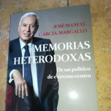 Libros: MEMORIAS HETERODOXAS. JOSÉ MANUEL GARCÍA-MARGALLO. EDICIONES PENÍNSULA 2020. LIBRO NUEVO. Lote 212892150