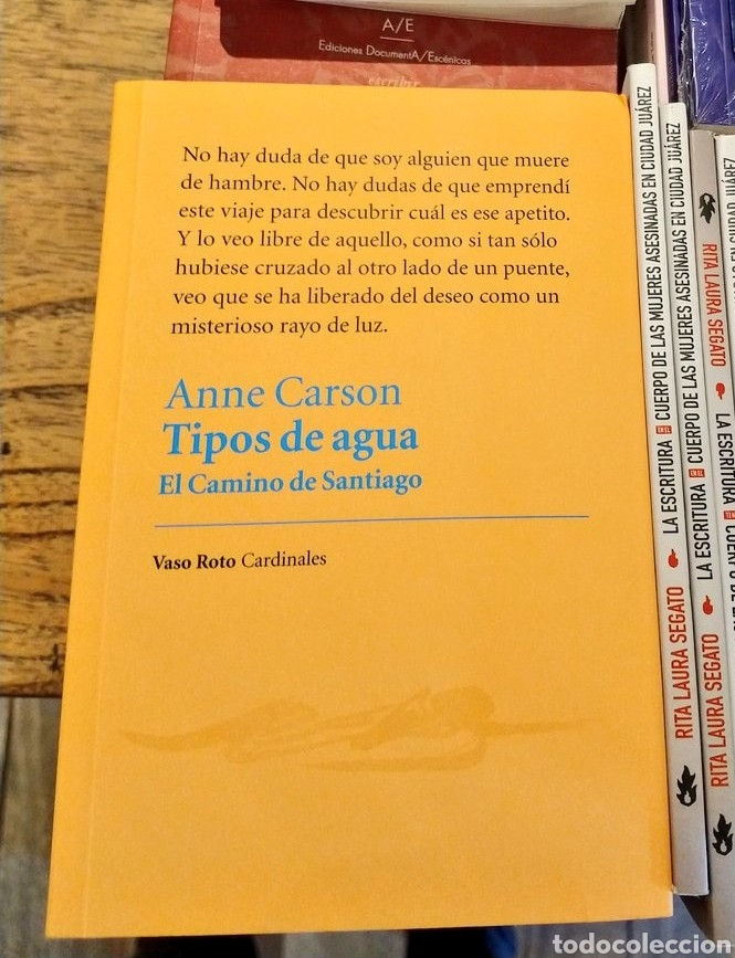 ANNE CARSON TIPOS DE AGUA LIBRO (Libros Nuevos - Literatura - Ensayo)