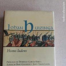 Libros: HOMO LUDENS/JOHAN HUIZINGA. ALIANZA 30 ANIVERSARIO.. Lote 244496845