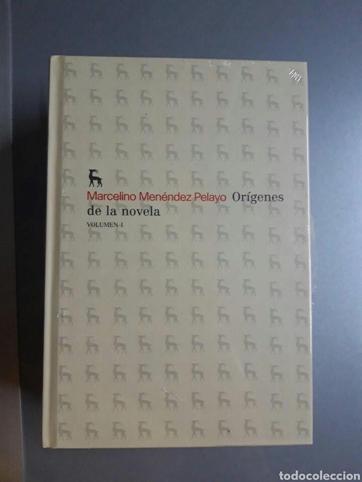 Libros: Orígenes de la novela. Volúmenes I y II. Marcelino Menéndez Pelayo. - Foto 2 - 244511165