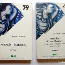 Libros: BIBLIOTECA DE CULTURA ANDALUZA. MISTERIOS DEL ARTE FLAMENCO, + AGENDA FLAMENCA, FELIX GRANDE. Lote 246260680