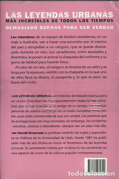 Libros: Jan Harold Brunvand-Falsas Alarmas,el sujetador explosivo y el canguro ladron.Alba.2009.Sellado. - Foto 2 - 248709845