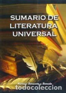 SUMARIO DE LITERATURA UNIVERSAL. MARIANO BENAVENTE Y BARREDA (Libros Nuevos - Literatura - Ensayo)