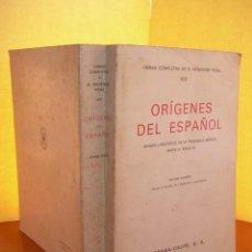 Libros: ORIGENES DEL ESPAÑOL VIII / R. MENÉNDEZ PIDAL. Lote 253913740