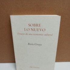 Libros: BORIS GROYS - SOBRE LO NUEVO. Lote 254947320