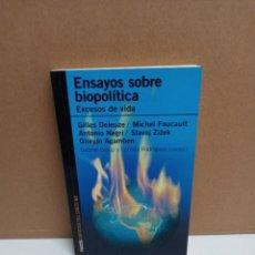 Libros: AUTORES VARIOS - ENSAYOS SOBRE BIOPOLITICA - PAIDOS. Lote 263232475
