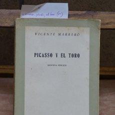 Libros: MARRERO VICENTE.PICASSO Y EL TORO.2ª EDICION.. Lote 269029319
