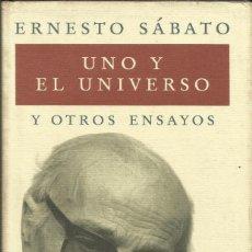 Libros: UNO Y EL UNIVERSO / ERNESTO SÁBATO.. Lote 269742658