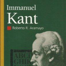 Libros: EMMANUEL KANT / ROBERTO ARAMAYO.. Lote 270358038