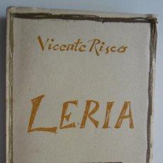 Libros: 228,, LERIA, POR VICENTE RISCO. EDICIONES GALAXIA, 1961. 1ª EDICIÓN. COLECCION TRASALBA.. Lote 270579753