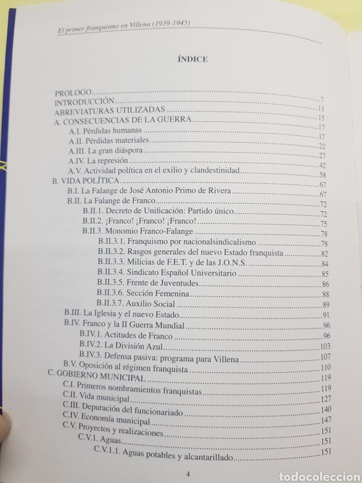 Libros: El primer Franquismo en Villena ,Fernando Costa Vidal ,2007 - Foto 3 - 277828168