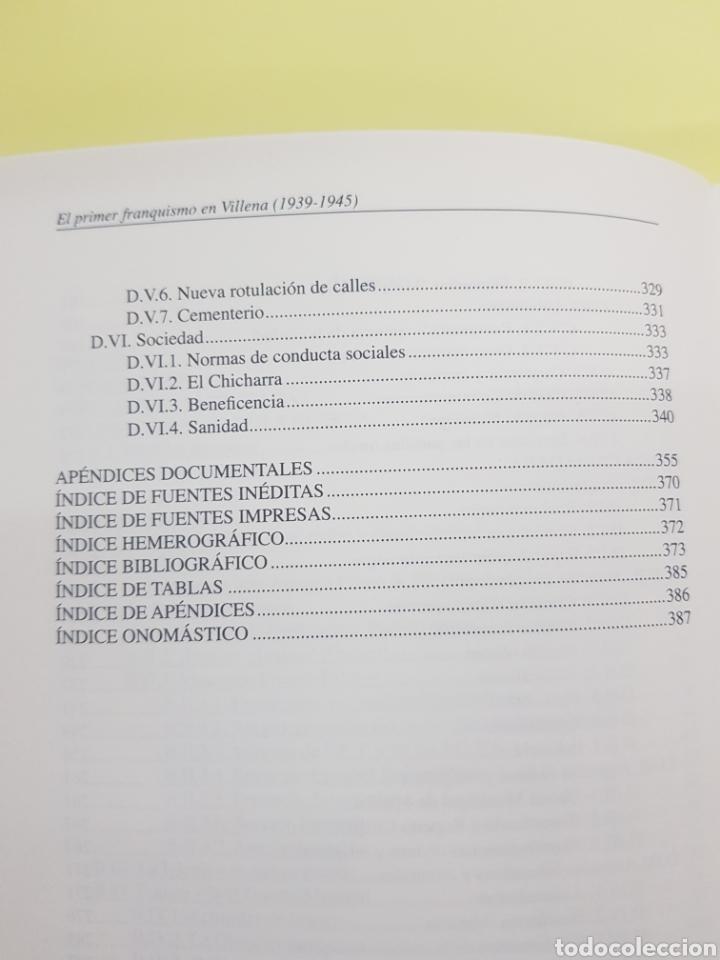 Libros: El primer Franquismo en Villena ,Fernando Costa Vidal ,2007 - Foto 5 - 277828168