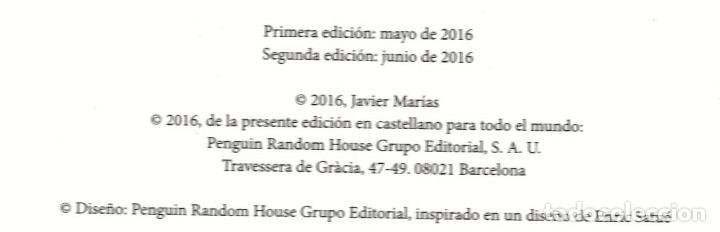 Libros: JAVIER MARÍAS EL QUIJOTE DE WELLESLEY NOTAS PARA UN CURSO 1984 ALFAGUARA 2016 2ª EDICIÓN FAJA ORIGIN - Foto 3 - 288376698
