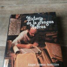 Libros: HISTORIA DE LA LENGUA HEBREA. Lote 288647653