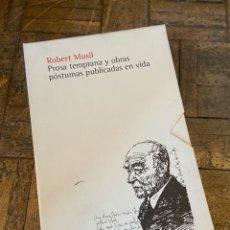 Libros: ROBERT MUSIL - PROSA TEMPRANA 4 VOL. - SEXTO PISO (2007) ENVÍO GRATIS. Lote 292273343