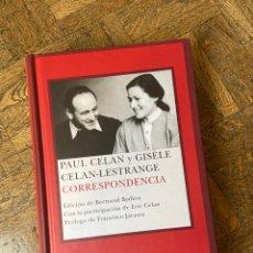 Libri: PAUL CELAN Y GISÈLE CELAN LESTRANGE - CORRESPONDENCIA- SIRUELA (2008) ENVÍO GRATIS. Lote 294038523