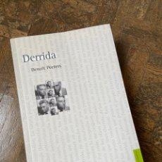 Libros: DERRIDA - BENOIT PEETERS - FONDO CULTURA ECONÓMICA (2013) ENVÍO GRATIS. Lote 295710288