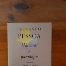 Libros: FERNANDO PESSOA MISCELANEAS Y PARADOJAS. Lote 296767843