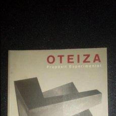 Libros: OTEIZA, ESCULTURA VASCA. TXOMIN BADIOLA.. Lote 132625370