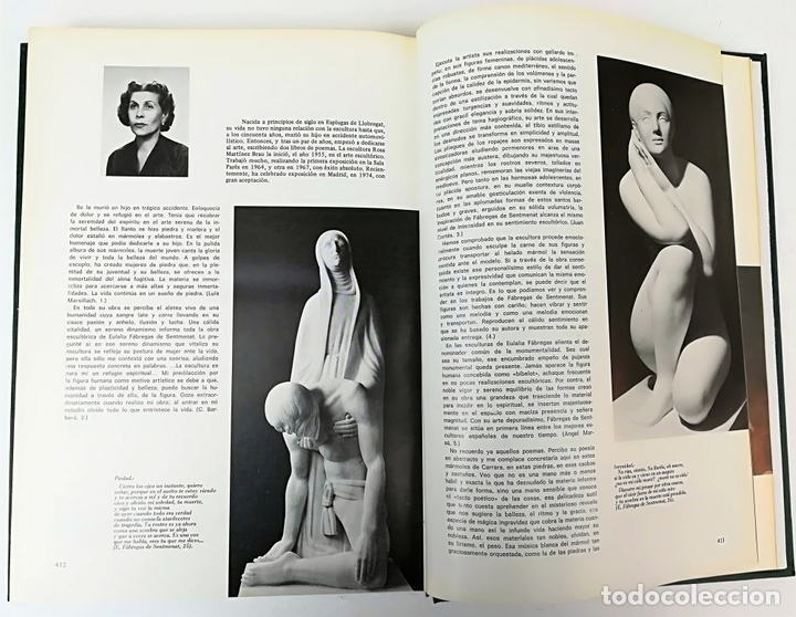 Libros: UN SIGLO DE ESCULTURA CATALANA. J.M. INFIESTA MONTERDE. EDIC. AURA. BARCELONA 1975 - Foto 5 - 153302234
