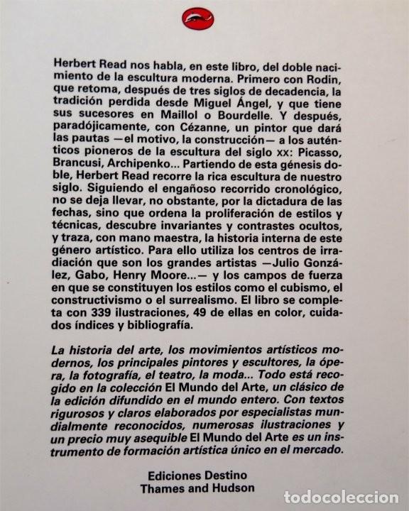 Libros: LA ESCULTURA MODERNA – HERBERT READ - Foto 4 - 172241067