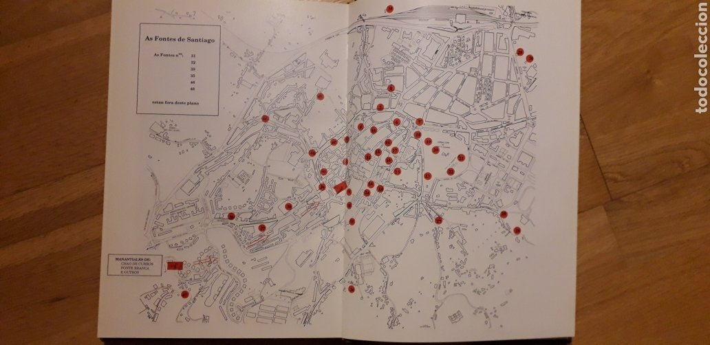 Libros: AS FONTES DE SANTIAGO DE COMPOSTELA, ABEL FERNANDEZ OTERO. - Foto 2 - 186019221