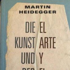 Libros: EL ARTE Y EL ESPACIO, MARTÍN HEIDEGGER.. Lote 195109082